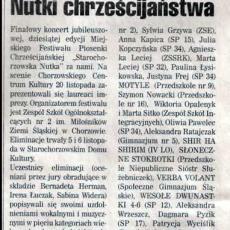 NR 48 (424) ROK 9  26.11.2008  TYGODNIK MIESZKAŃCÓW MIASTA  Chorzowianin.